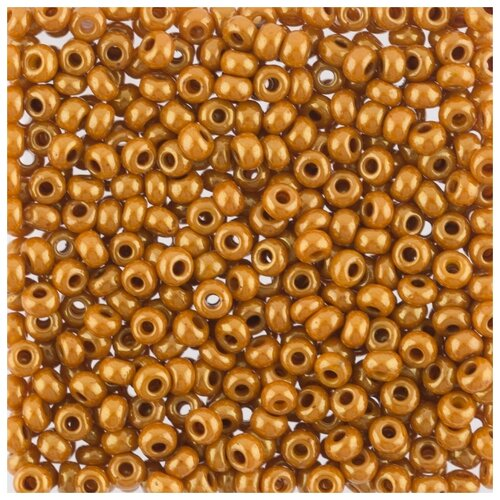 Купить Бисер круглый PRECIOSA 7, 10/0, 2, 3 мм, 500 г, (Ф469), темно-золотой, Фурнитура для украшений