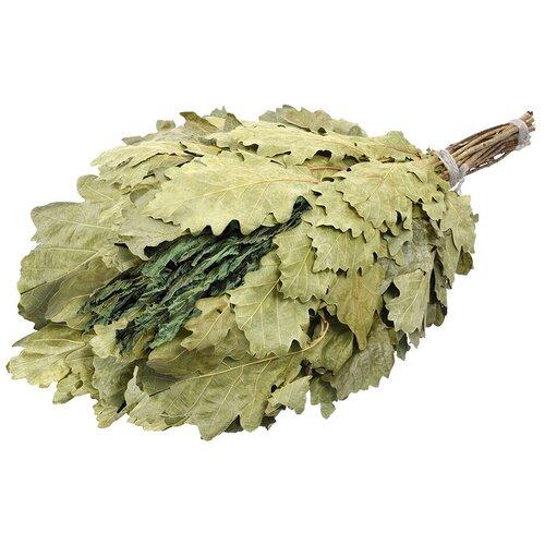 Банные штучки Веник дубовый с мятой зелeный