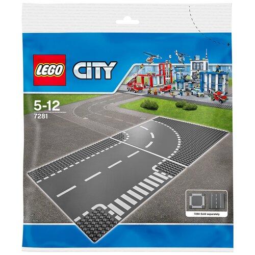 Купить Дополнительные детали LEGO City 7281 Поворот и Т-образный перекресток, Конструкторы