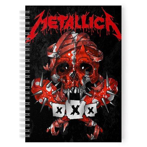 Купить Тетрадь 48 листов в клетку с рисунком Metallica xXx, Drabs, Тетради