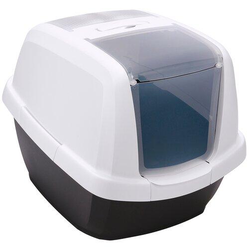 Туалет-домик для кошек Imac Maddy 62х49.5х47.5 см черный туалет для кошек imac maddy закрытый бежево серый