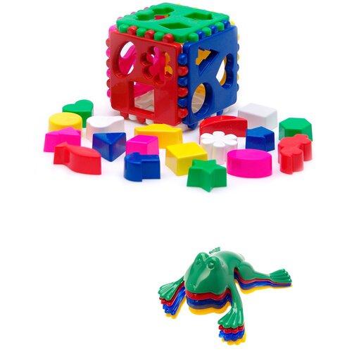 Купить Сортер Karolina toys Кубик логический большой + Команда КВА №1, Сортеры