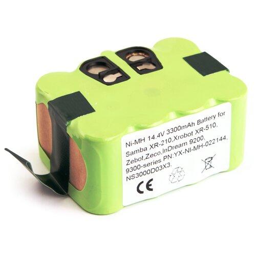 Аккумулятор для робота-пылесоса Samba XR-210, Xrobot XR-510, Zebot, Zeco, InDream 9200, 9300 - series 14.4V 3300mAh (Ni-MH) PN: YX-NI-MH-022144, NS3000D03X3.