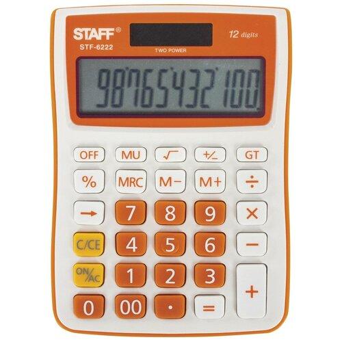 Калькулятор настольный STAFF STF-6222 оранжевый