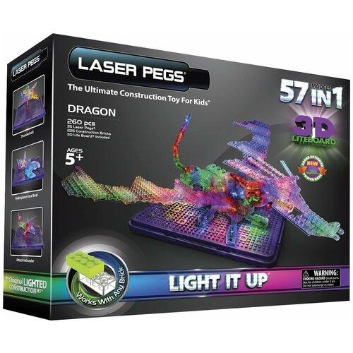 Конструктор Laser Pegs 3D Lite Board G1070B Дракон 57 в 1