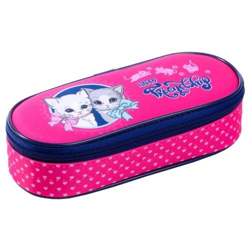 Купить Berlingo Пенал-футляр Happy kittens (PM04638) розовый, Пеналы