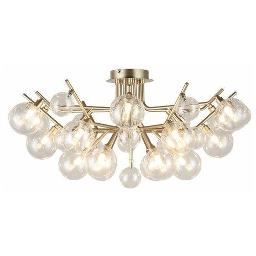 Люстра Favourite Lash 2524-18U, G9, 720 Вт, кол-во ламп: 18 шт., цвет арматуры: золотой, цвет плафона: бесцветный потолочная люстра favourite 2524 18u