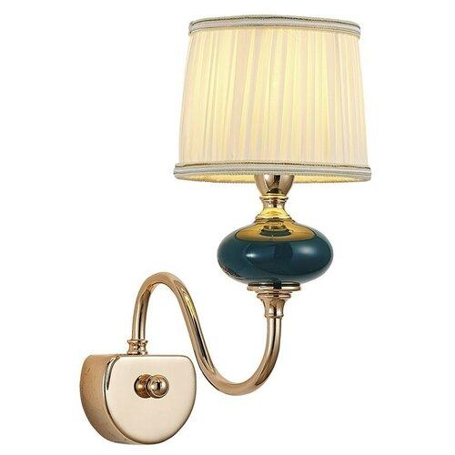 Настенный светильник Люмьен Холл Макей 1031/1W-GD-DGN-WT, 60 Вт