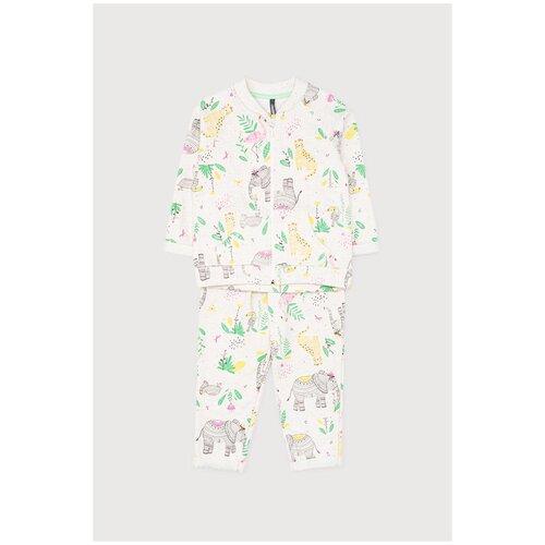 Купить Комплект одежды crockid размер 68, св.бежевый меланж, слоники к287, Комплекты