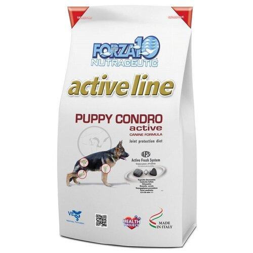 Сухой корм для щенков и сук в период беременности и лактации Forza10 Condro Active для поддержания опорно-двигательного аппарата в период роста и развития, гипоаллергенный, с рыбой
