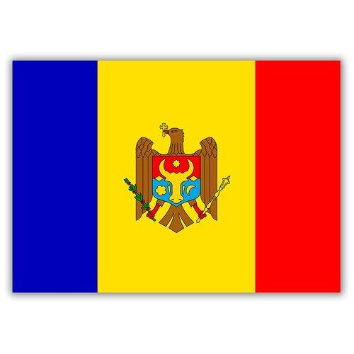 Магнит на холодильник малый - A5, Флаг Молдовы