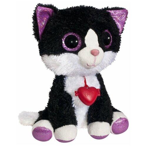 Мягкая игрушка Fancy Кот Фенсик чёрно-белый с сердечком 23 см