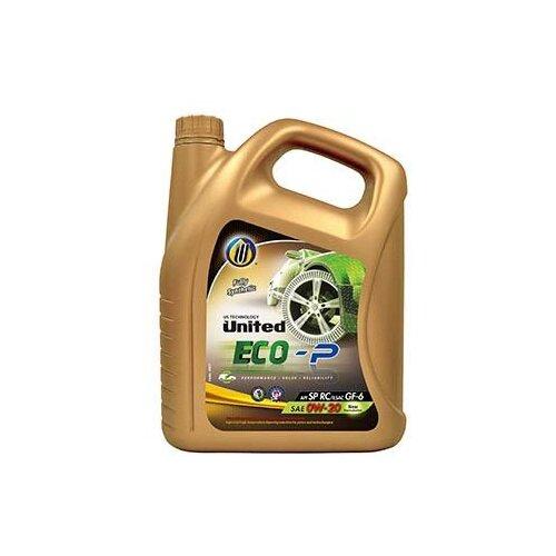 Синтетическое моторное масло United Oil ECO-P 0W-20 4 л
