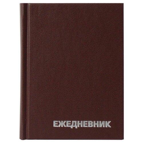 Купить Ежедневник OfficeSpace универсальный недатированный, бумвинил, А6, 160 листов, коричневый, Ежедневники, записные книжки