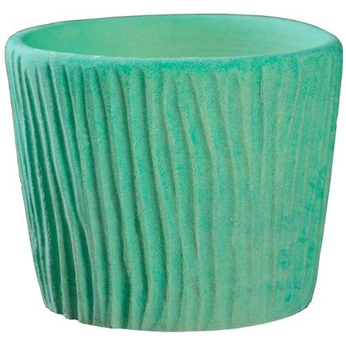 Кашпо Хорошие сувениры резное 10 х 8,5 см зеленый