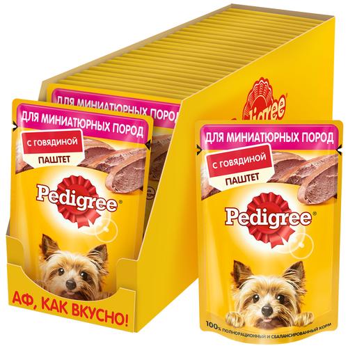 Фото - Влажный корм для собак Pedigree говядина 24 шт. х 80 г (для мелких пород) сухой корм для собак мелких пород pedigree говядина 2 2 кг