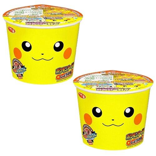 Суп-лапша Nissin Покемон с соевым соусом детская (2 шт. по 38 г)