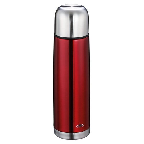 Термос COLORE от Cilio, 0,5 л, d-7 см, h-25 см, красный, сталь