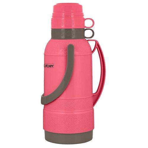 Классический термос Webber 25032, 3.2 л розовый/коричневый