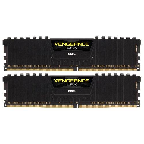 Оперативная память Corsair Vengeance LPX 16GB (8GBx2) DDR4 2400MHz DIMM 288-pin CL14 CMK16GX4M2A2400C14 модуль памяти corsair vengeance lpx ddr4 dimm 2400mhz pc4 19200 cl14 16gb kit 2x8gb cmk16gx4m2a2400c14