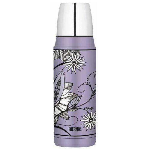 Классический термос Thermos Heritage Purple Flower, 0.48 л фиолетовый