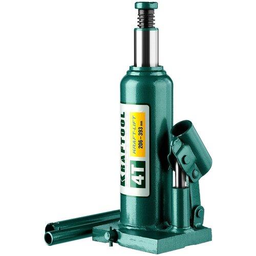 Домкрат бутылочный гидравлический Kraftool 43462-4_z01 (4 т) зеленый домкрат гидравлический бутылочный kraftool 8т kraft lift 43462 8 z01