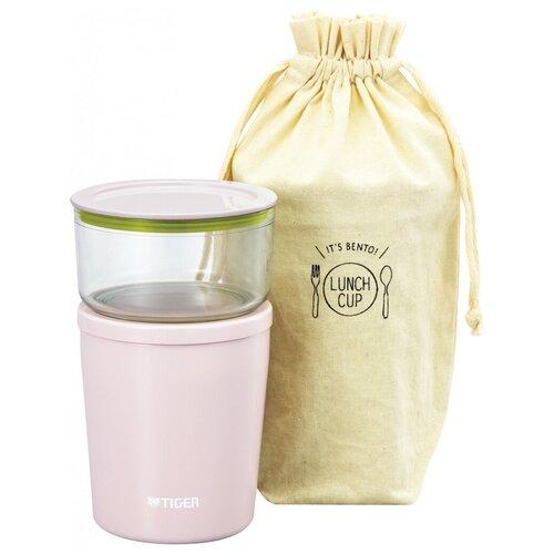 Термос для еды TIGER LCC-A030, 2 предмета розовый
