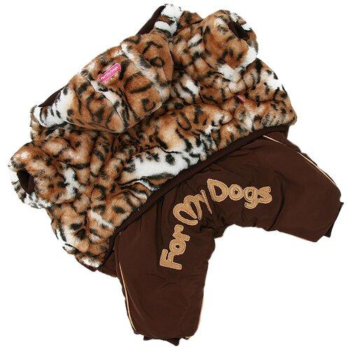 Комбинезон для собак ForMyDogs FW927-2020 F 16 коричневый комбинезон для собак formydogs fw925 2020 f 16 черно серебряный