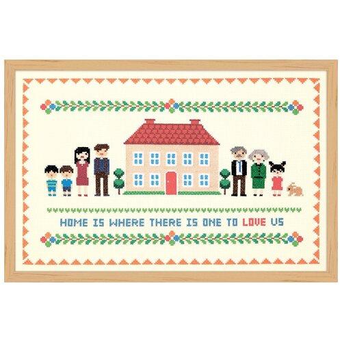 Купить Набор для вышивания Дом с красной крышей XIU Crafts 2870708, Наборы для вышивания