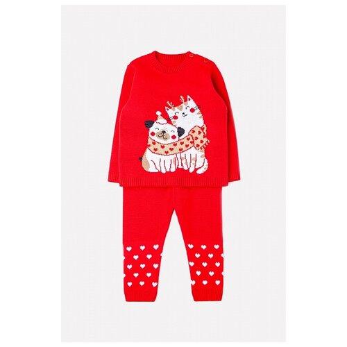 Комплект одежды crockid размер 80-86, красный
