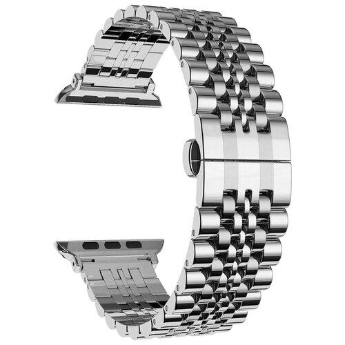 Lyambda Ремешок из нержавеющей стали Castor для Apple Watch 42/44 mm silver