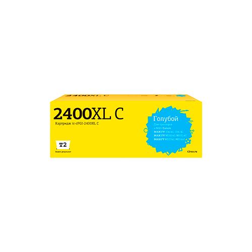 Фото - Картридж T2 IC-CPGI-2400XL C, совместимый картридж t2 ic cpgi 480pgbk xxl совместимый