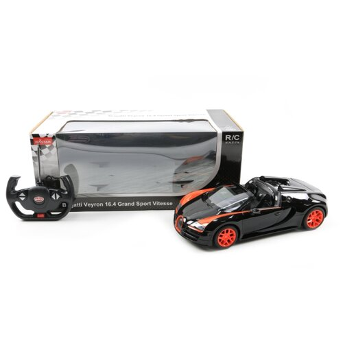 Фото - Машина на р/у Bugatti Veyron Grand Sport со светом гоночная машина rastar bugatti veyron grand sport vitesse 53900 1 18 черный