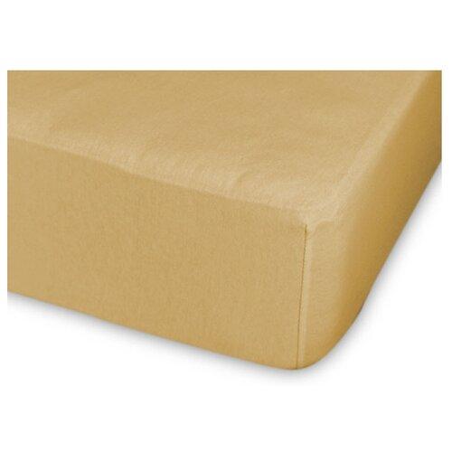 Фото - Простыня Cleo трикотажная на резинке 140 гр 90 х 200 см горчица простыня amore mio трикотажная на резинке 120 х 200 см сиреневый