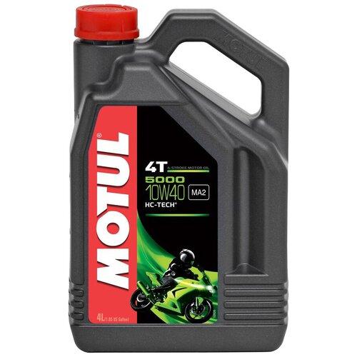 Фото - Полусинтетическое моторное масло Motul 5000 4T 10W40 4 л масло моторное полусинтетическое 4 тактное для лодочных двигателей motul outboard tech 4t 2л