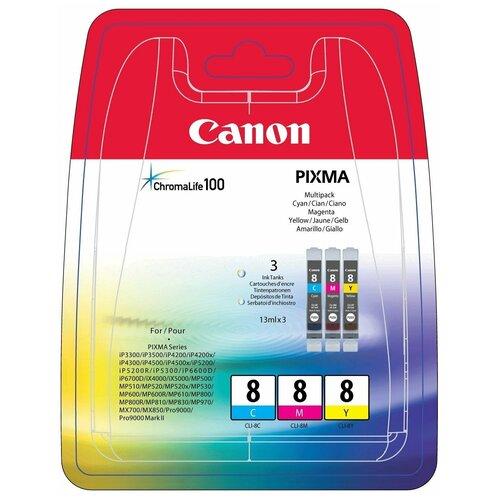 Фото - Набор картриджей Canon CLI-8 C/M/Y Multipack (0621B029) набор картриджей canon pg 40 cl 41 multipack 0615b043