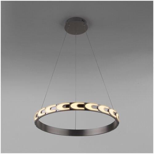 Фото - Светильник светодиодный Eurosvet Chain 90164/1 сатин-никель, LED, 40 Вт светильник eurosvet потолочный светодиодный 90177 3 сатин никель