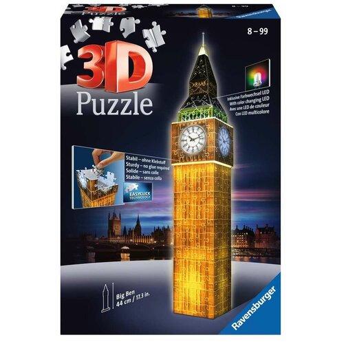 Купить Пазл Ravensburger 3D Ночной Биг-Бен (12588), 216 дет., Пазлы