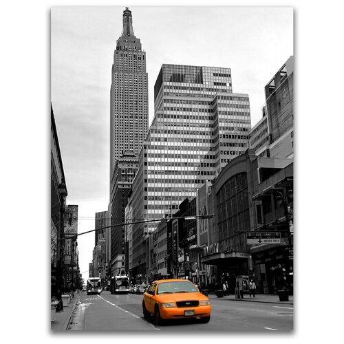 Картина на холсте LOFTime 30х40 НЬЮ йорк желтое такси К-042-3040