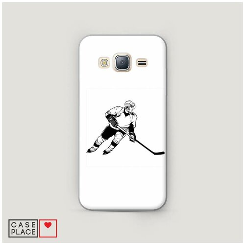 Чехол Пластиковый Samsung Galaxy J3 2016 Хобби хоккей