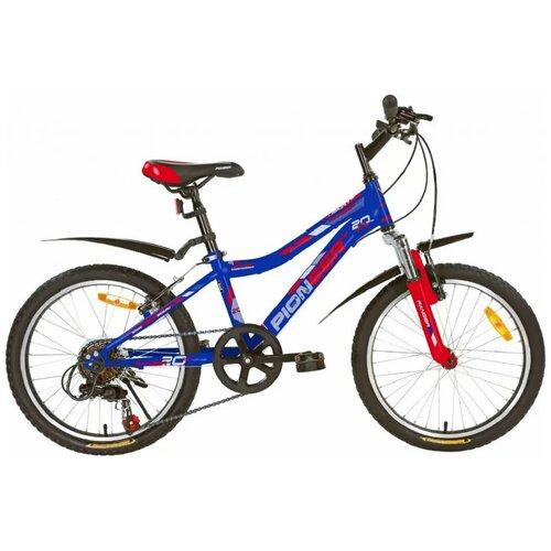 Велосипед PIONEER Ranger 20/11 2020-2021 blue-red-silver