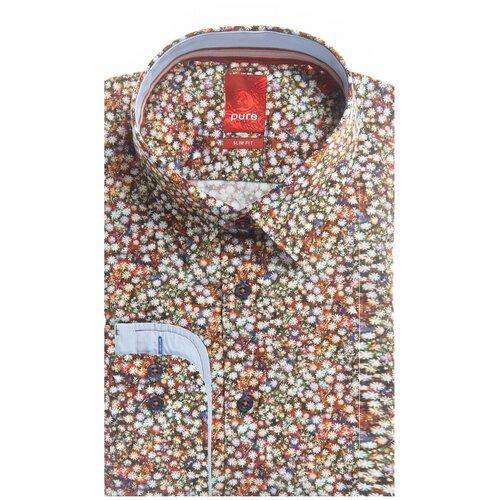 Рубашка pure размер XL белый/оранжевый
