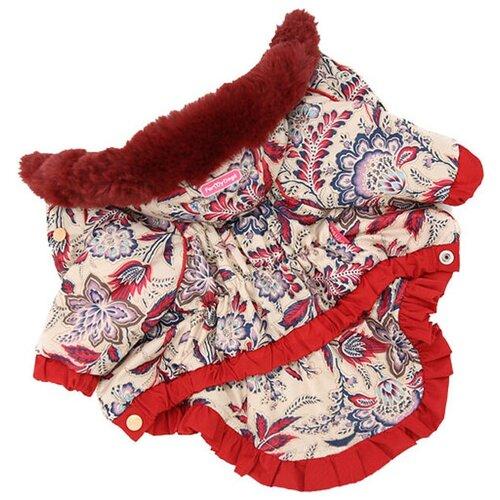 FOR MY DOGS куртка для собак бежевая для девочек FW410-2017 F (10) for my dogs куртка для собак перышки серо красная для девочек fw492 2017 f b3