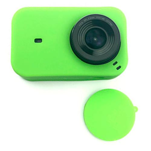 Фото - Силиконовый чехол MyPads для спортивной экшн-камеры Xiaomi MiJia 4K с крышкой-заглушкой для объектива зеленый xiaomi mijia mjjgtyds01fm laser projector 4k 2gb 16gb english interface