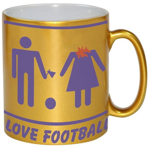 Золотая кружка I love football!