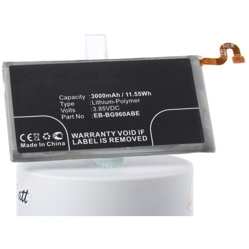 Аккумуляторная батарея iBatt 3000mAh для Samsung SM-G960F/DS, WiMAX 2+, SM-G960, SM-G960N, SM-G9600/DS, SCV38, SM-G9608/DS, SM-G960J