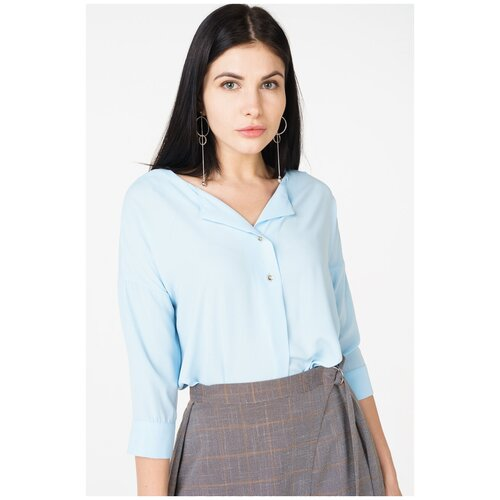 Блуза adL, размер 42/S, голубой