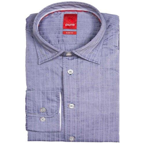 Рубашка pure размер M серо-голубой