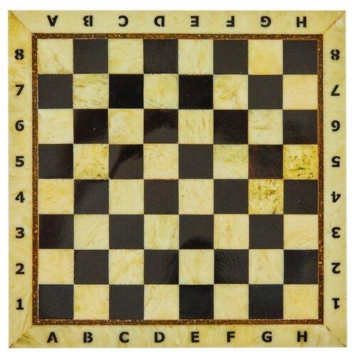 Amber-регион Шахматная доска из янтаря без рамы средняя