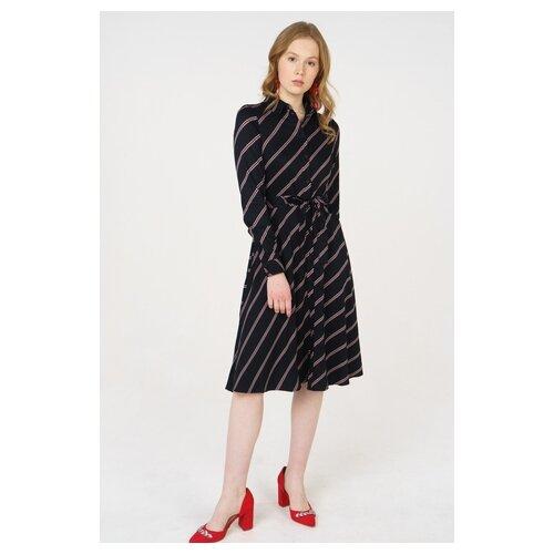 Платье Vero moda 10210397 женское Цвет Черный Black Полоски р-р 40 XS майка vero moda 10212778 размер xs черный